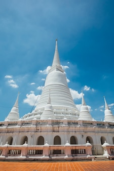World heritage white temple in bangkok