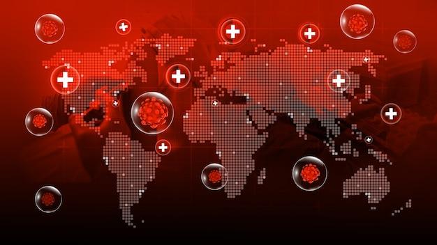 World map of corona virus covid19 situation update worldwide