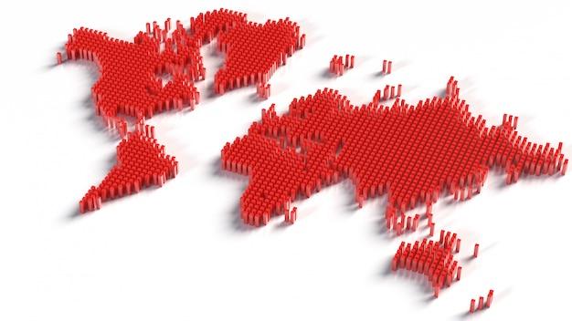 Карта мира, изолированные на белом б