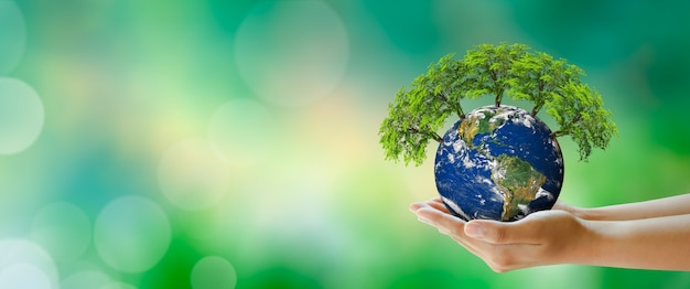 World mental health and world earth day saving environment and world ecology