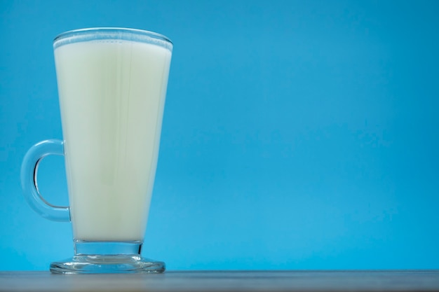 World milk day is suitable for celebrating world milk day1 june. a glass of milk. flat design. view from above.happy milk day!