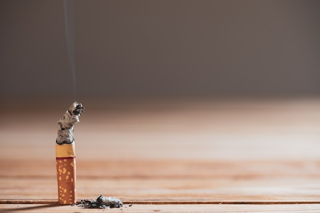 World no tobacco day, may 31. stop smoking. close up burn cigarettes