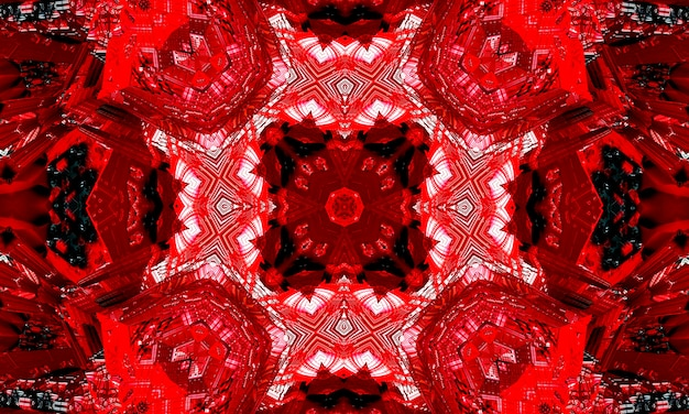 Всемирный красный крест, калейдоскоп иллюстрация символа красного креста на красном фоне.