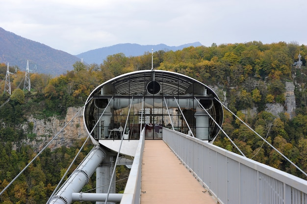 The world's longest suspension footbridge, sochi, russia