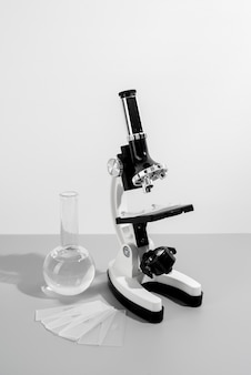 World science day arrangement with microscope