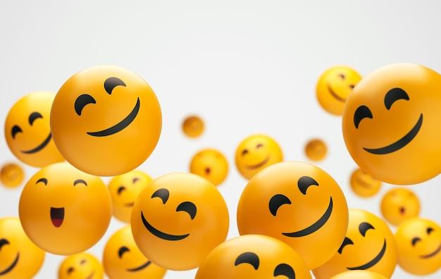 Composizione di emoji per la giornata mondiale del sorriso