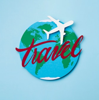 World tourism day concept with airplane