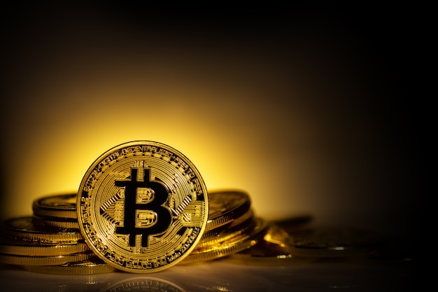 World virtual currency bitcoin background