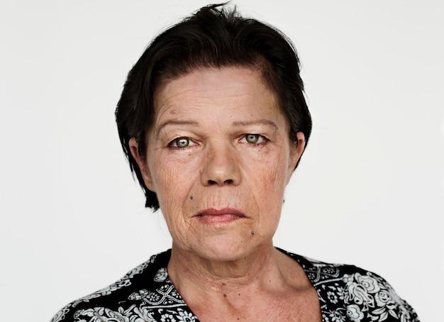 흰색 배경의 worldface-finnish 여성