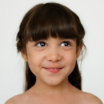 Worldface-ragazzino francese in uno sfondo bianco