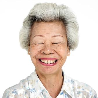 Worldface-тайская женщина на белом фоне