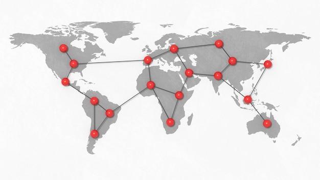 世界的なネットワークイラスト