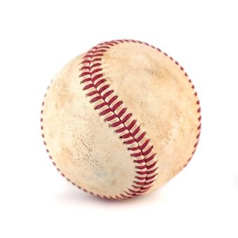 Worn baseball isolated on white