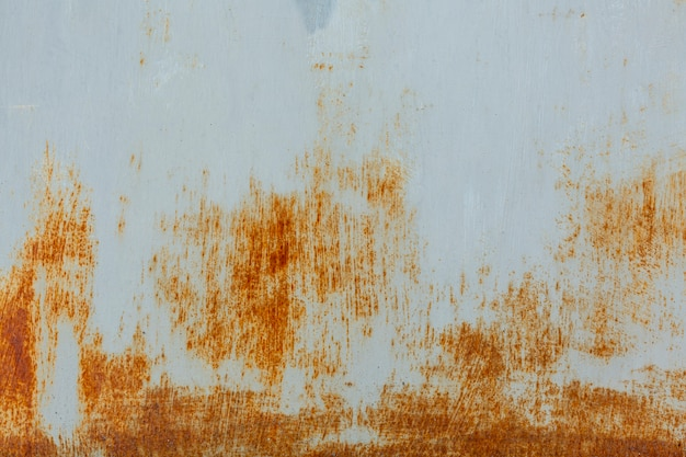 Worn metallic surface with rust