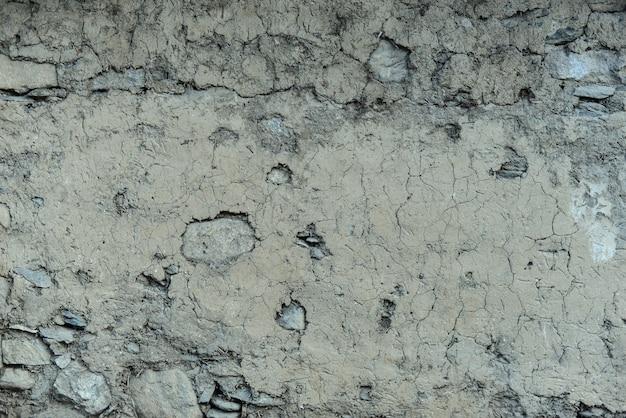 摩耗した岩石組織
