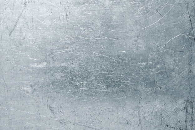 Изношенный стальной лист, легкая металлическая текстура с царапинами и вмятинами