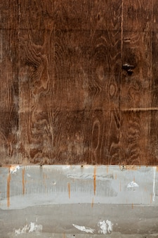 Worn wood surface with rusty nails