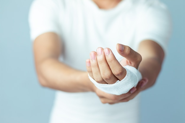 Wounds at the wrist,bandages a hand wound pain medicine