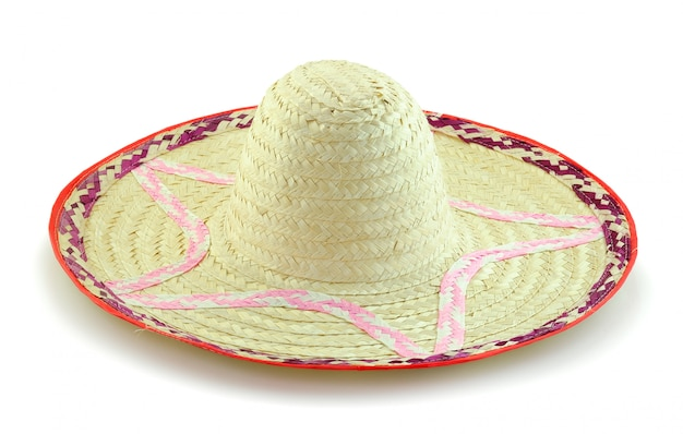 Woven bamboo hat