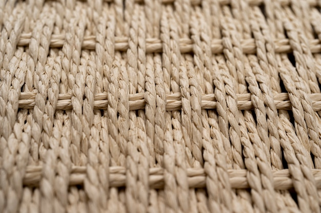 Woven baskets isolated against a white background wooden reed wicker texture background