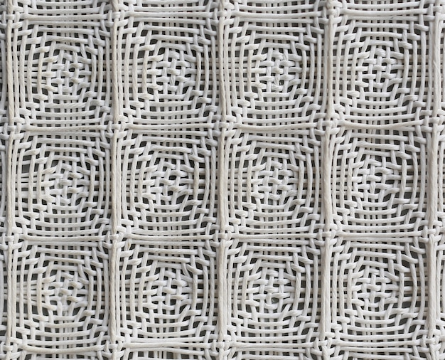 Woven grid of paper textile