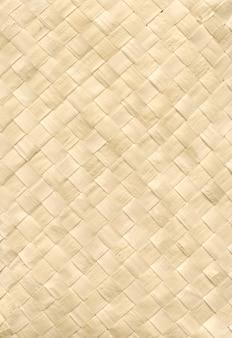 Woven light bamboo mat texture background