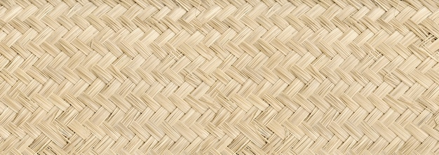 Woven light bamboo mat texture background