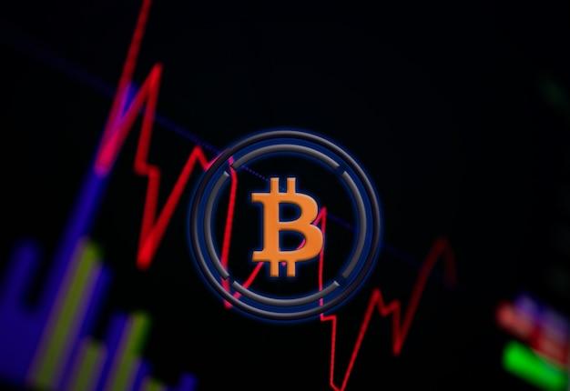 交換チャート上のラップされたビットコインwbtc暗号通貨コイン成長チャート