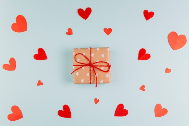 Wrapped gift for valentine's day