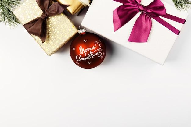 Обернутые подарки на рождество