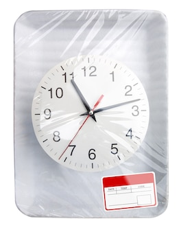 時計付きラッププラスチック食品容器