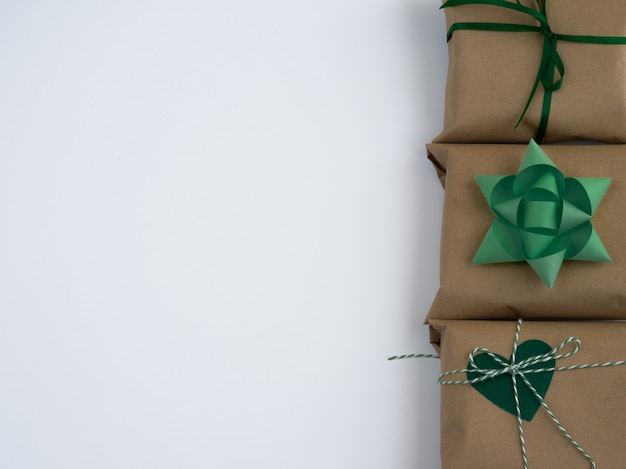 Wrapped vintage gift box.