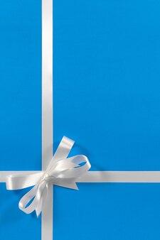 Bordo di natale fiocco bianco sfondo blu