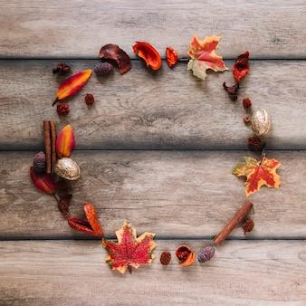 Wreath of autumn elements