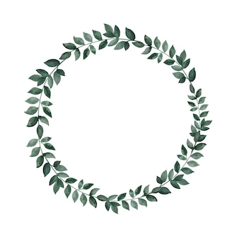Wreath frame on white isolated