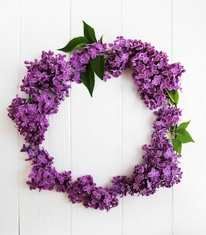 Wreath made of lilac flowers