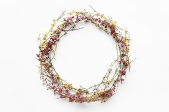 Wreath of wild flowers