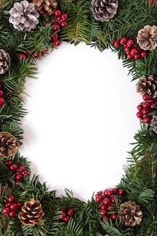 Рождественский венок границы