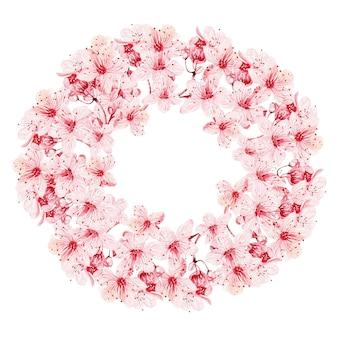 Венок с цветущей сакурой