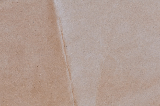 Wrinkled brown craft paper textured