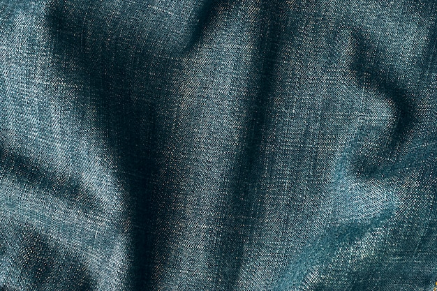 Wrinkled denim fabric texture