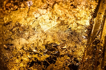 Wrinkled golden textured background