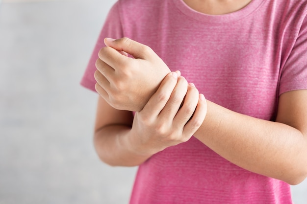 Wrist pain because using computer long time.