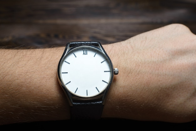 Wristwatch without hands