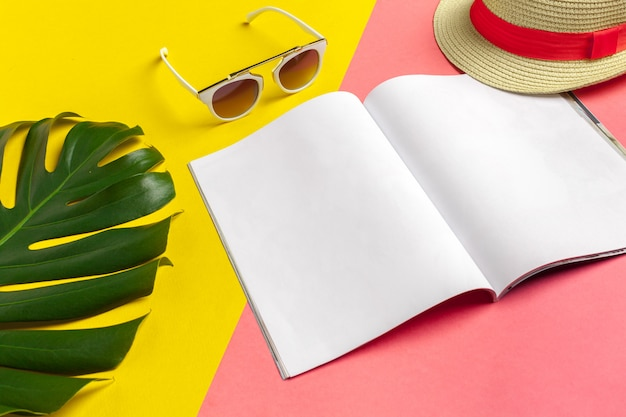 Writing diary summer beach vacation