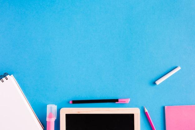 Written accessories on desk
