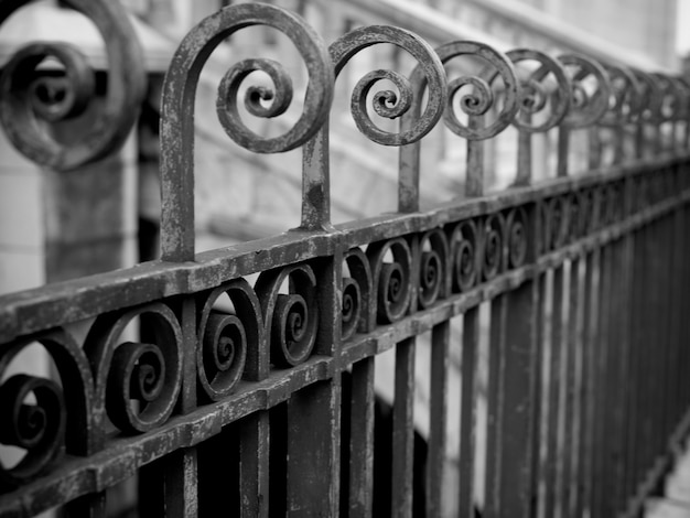 Wrought iron fence in paris france