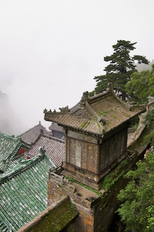 Wudangの修道院の屋根。