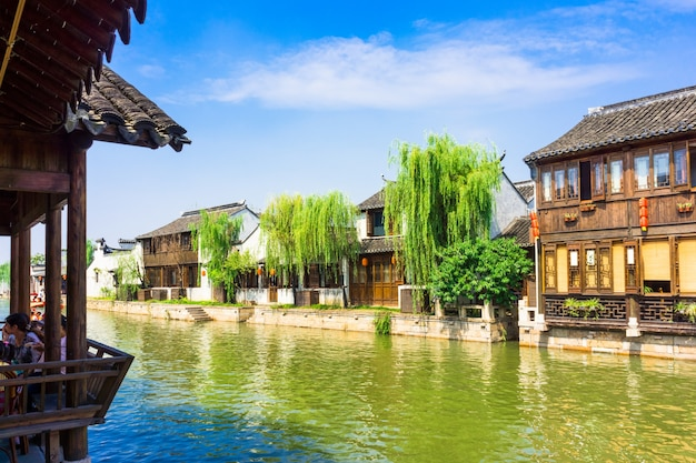 Wuzhen、上海、中国に近い有名な水の村