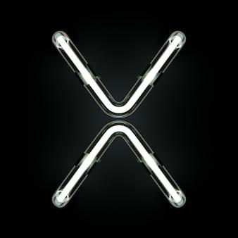Неоновый свет алфавита x